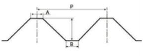 折板名称と主な寸法