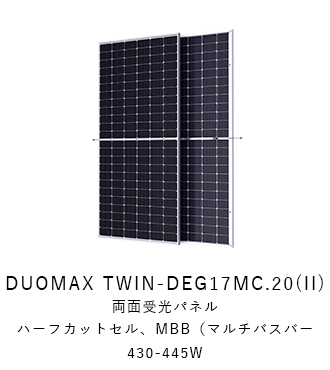 トリナソーラー DUOMAX TWIN-DEG17MC.20(II)